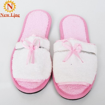turkish cotton open toed ladies bedroom slippers women fancy