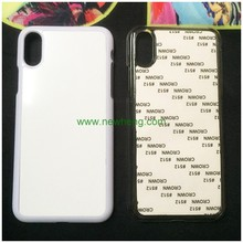 2d sublimation mobile phone blank pc + aluminum case for iphone X