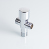 "3/8"" silver brass 3 way angle seat valve for bathroom"