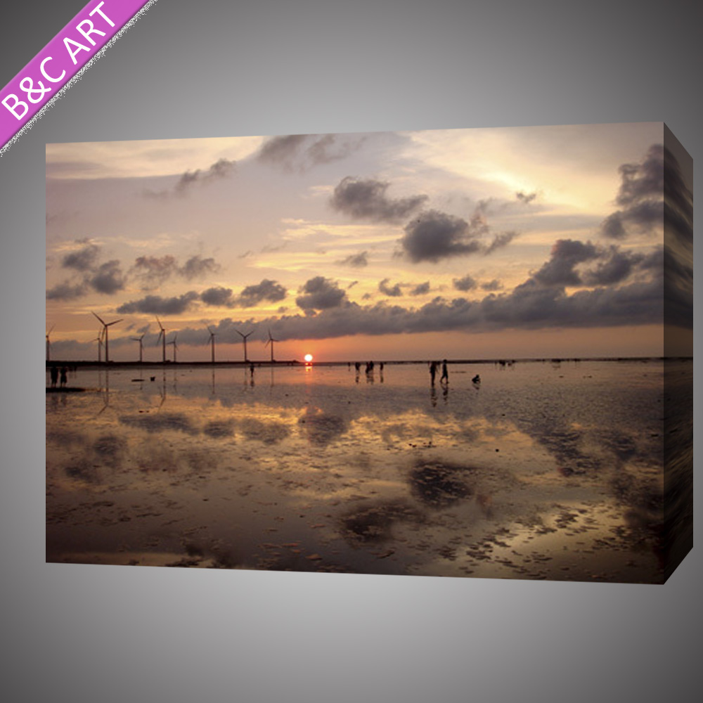 Realist sea landscape print fabric canvas by Epson machine