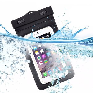 China PVC waterproof mobile phone pouch travel swimming cell phone bag underwater dry case with Lanyard for iphone 6/7/8/X