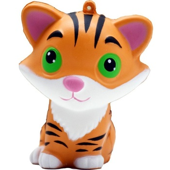 2018 Popular PU Foam Jumbo Tiger Slow Rising Squishies Toys Suqishies Cute Stretch Soft Kawaii Toy