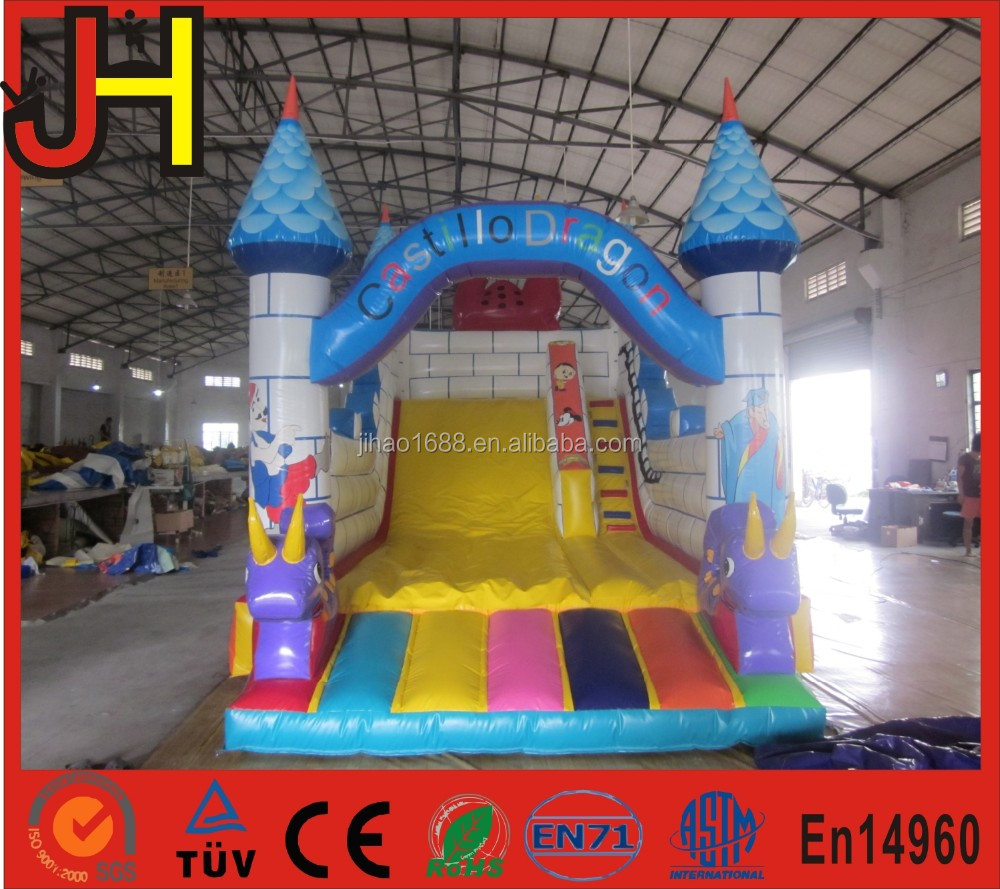 2016 hot sale inflatable Magical Dragons Children's Bouncy Castle, inflatable dragon slide