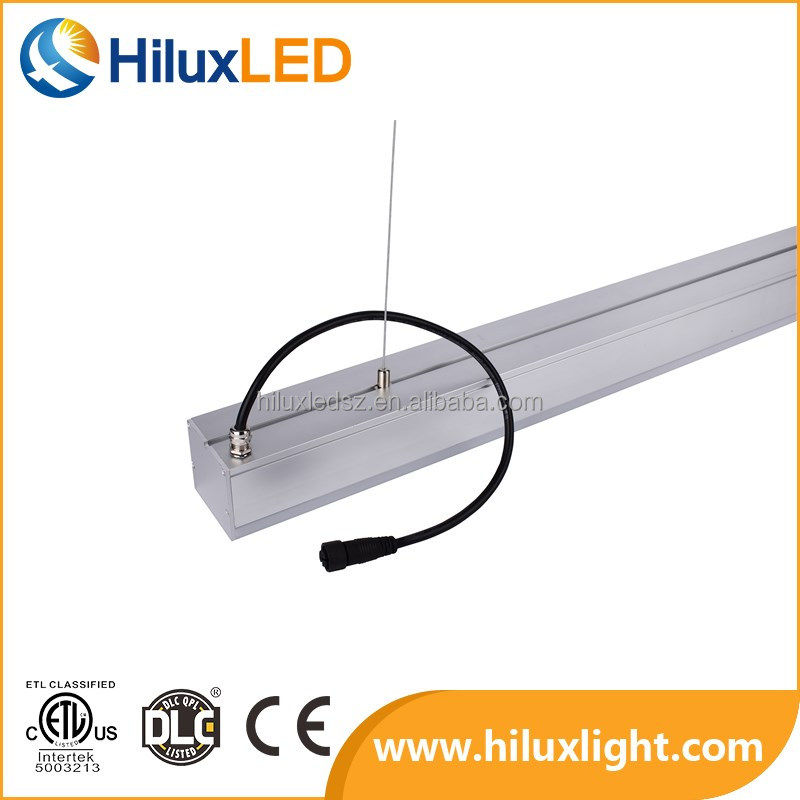 ETL Listed Hanging 8ft 80w Linear Luminaire Led Pendant Suspended 100-277vac 110lm/w Ra>82 with 3 years warranty