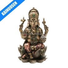 Ganesh (Ganesha) Hindu Elephant God of Success Real Bronze Powder Cast Statue
