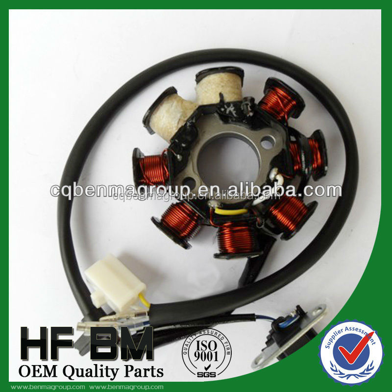 GY6 magneto stator coil with 8 legs for motorcycle, GY6 magneto coil with 2 charger in high quality