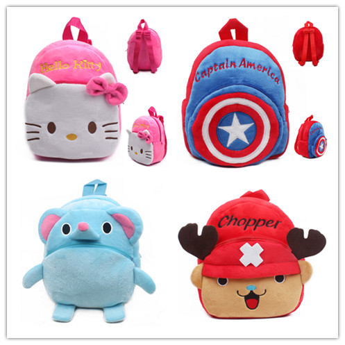 High Quality Children School Bag Plush Cartoon Toy Baby Backpack Boy Gril School Bags Gift For Kids Backpacks mochila