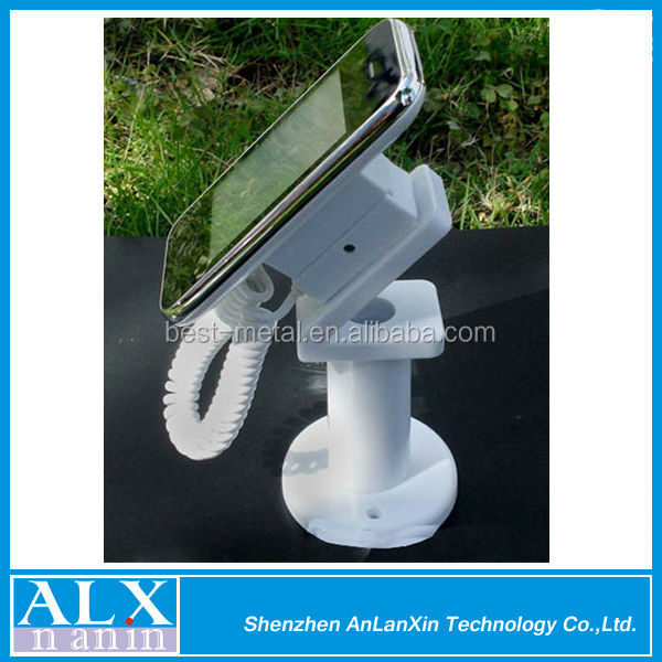 Plastic Retractable tethers,anti-theft display holder for mobile phone/ camera