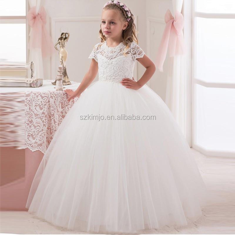 Encantador al por mayor vestido de la muchacha de flor del cordón ...