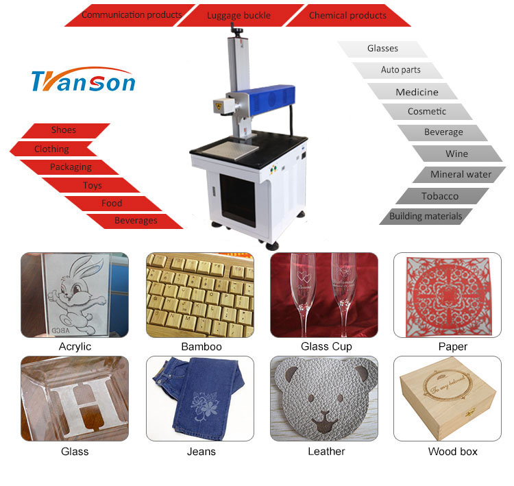 Synrad 60W  CO2 RF Laser Marking Machine Desktop for Nonmetal