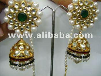 Designer Kundan 22k Gold Jhumka Ohrringe - Buy Kundan Jhumka ...