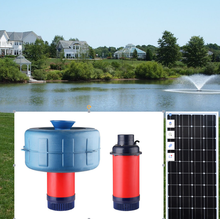 Dc brushless Solar aquarium pump in  aquaculture  submersible type oxygenator  pond  pump  for fish pond and irrigation