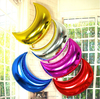 Pure Color Moon Shape Foil Balloon Wedding Party Decorations