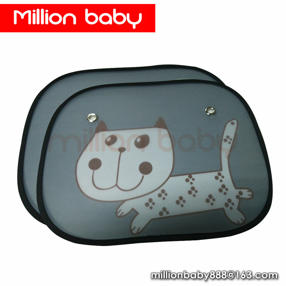 Baby Static Cling Mesh Funny Cute Anime Cartoon portable Car Side Window <strong>Sun</strong> Shade car