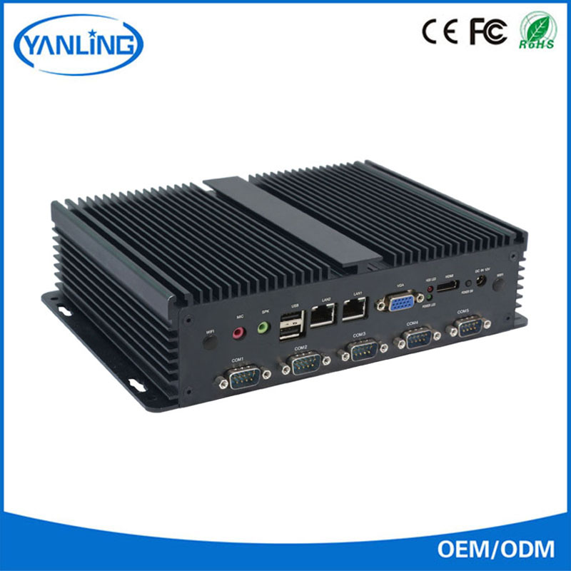 YanLing portable linux mini pc barebone fanless mini industrial pc IBOX-102