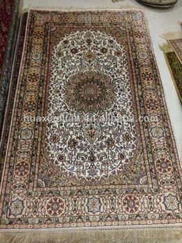 Hand Knotted Kilim Kashmir Silk Rug
