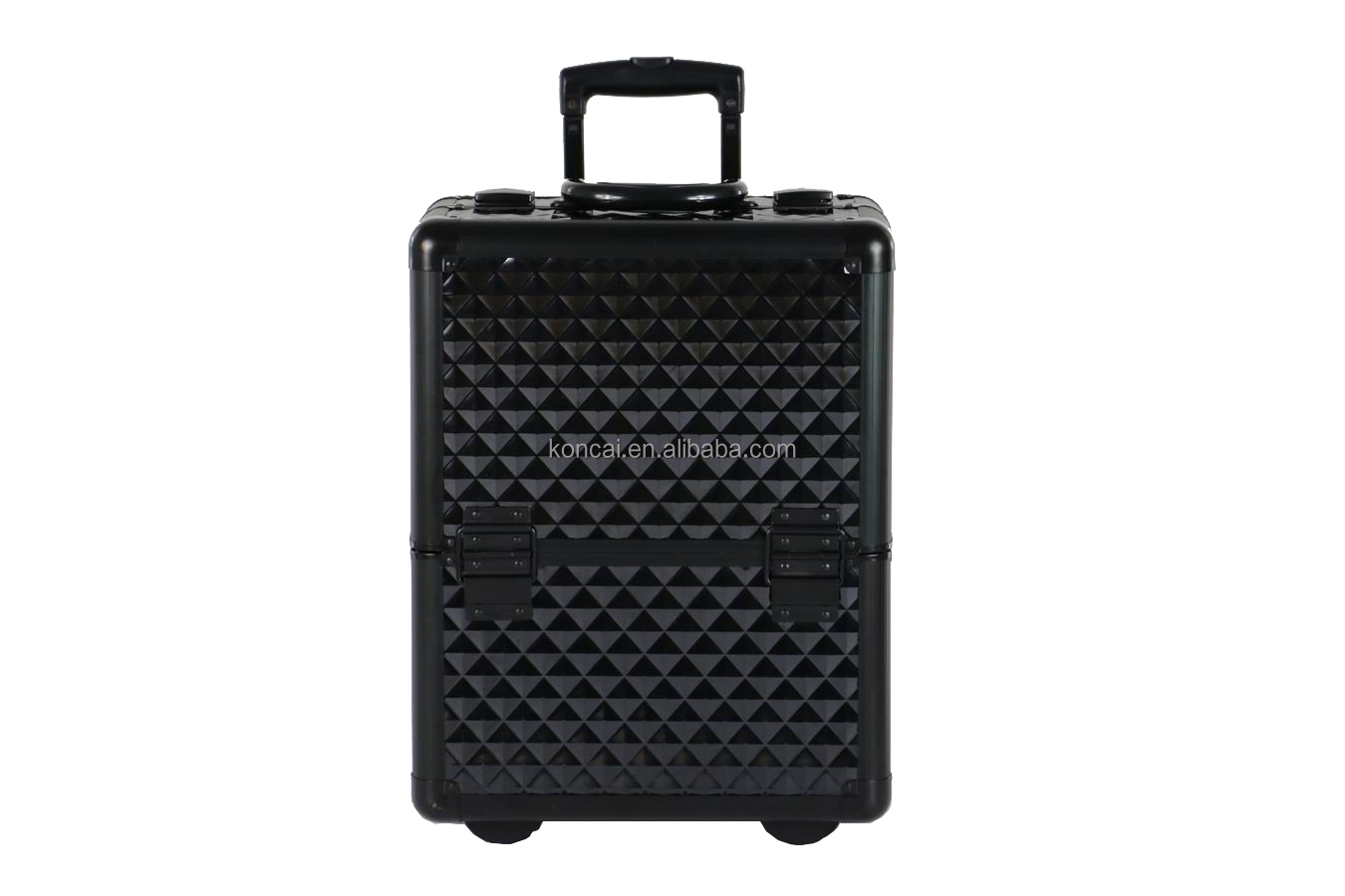 Professional custom carry case with metal corner fashion travel trolley case cosmetic bags cases on wheels manufactuer