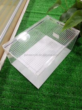 Acrylic Small Pet Display Case Plastic Terrarium Reptiles Cages