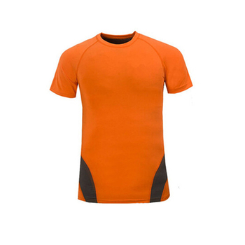100% Polyester Bright Color Gym Clothing Men Sports Wear, Gym T-Shirt