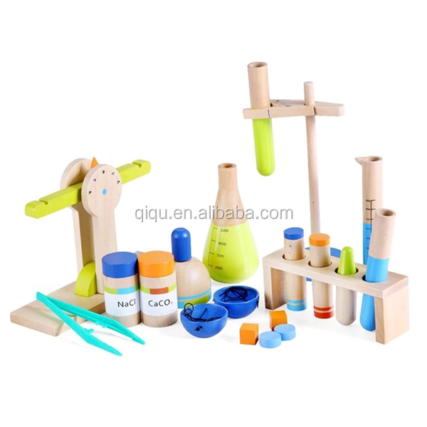 2015 New Kids Wooden Explore Simulation Science and Chemical Equipment Toy