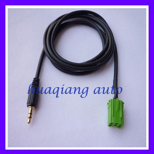 buy renault clio megane 6pin aux cable cd changer cable car audio parts. Black Bedroom Furniture Sets. Home Design Ideas