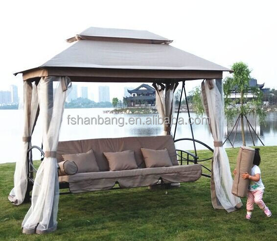 3 Seater Swing Canopy   Buy 3 Seater Swing Canopy,Gazebo Reclining Swing  Bed,Luxury Outdoor Swings With Mosquito Net Product On Alibaba.com