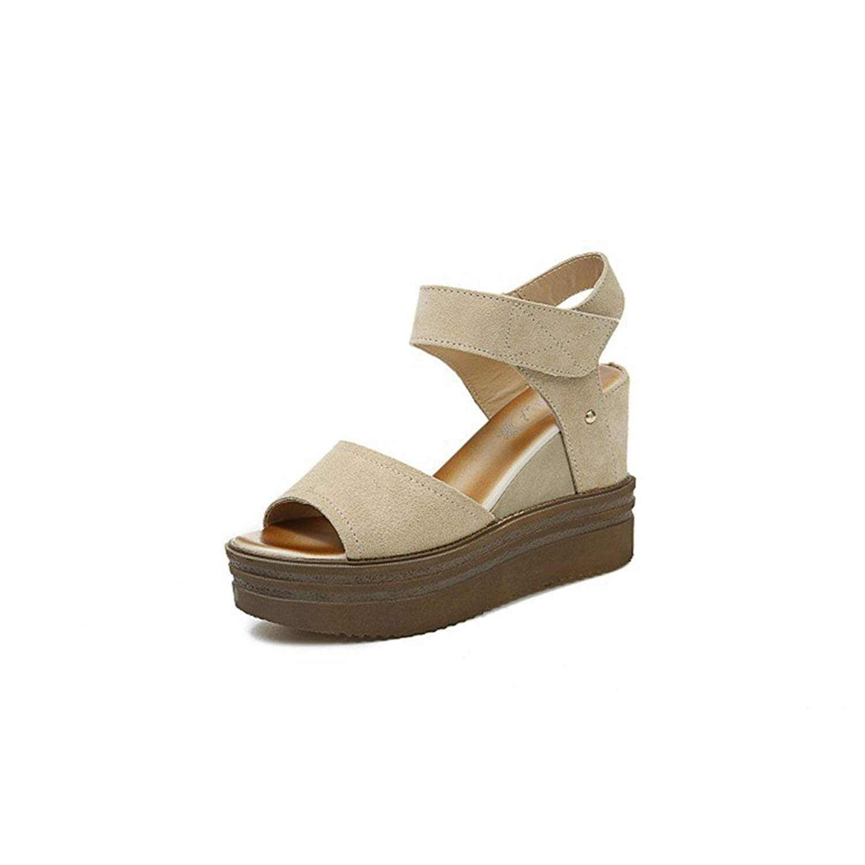 01208627a9799 Get Quotations · Zarbrina Womens Fashion Wedge Single StrapTie up Buckle  Sandals Ankle Slip on Sandal Peep Toe Flatform