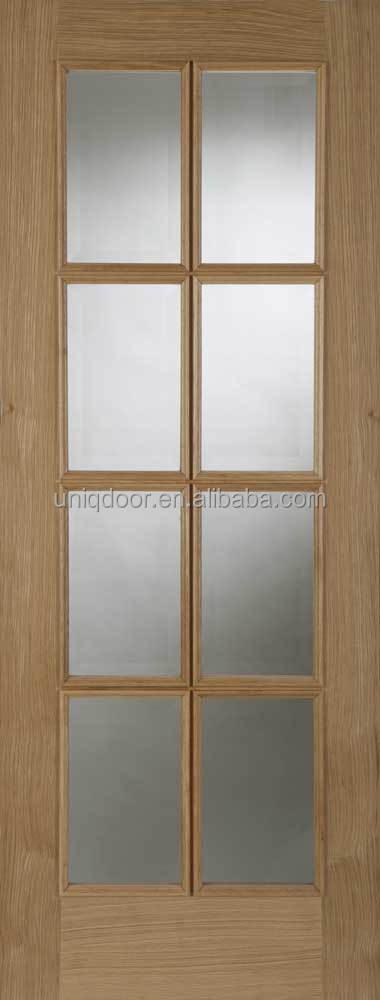 Innentüren mit glas eiche  Massivholz eiche innentüren mit glas panel designs-Tür-Produkt ID ...