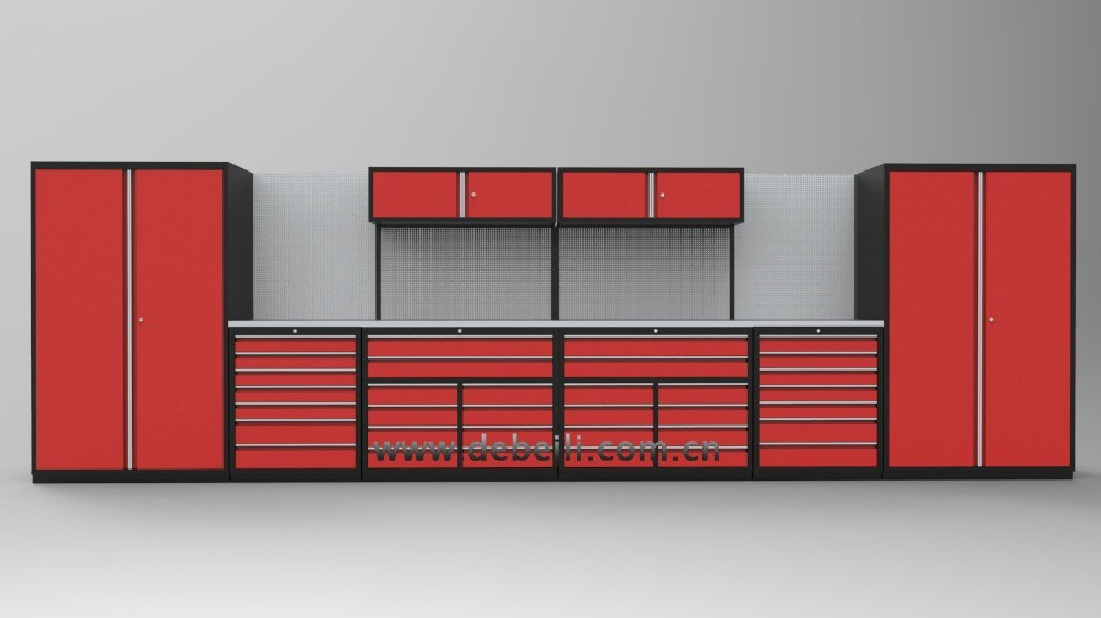 Modular luxury design tool box set metal garage cabinets for Dimension box garage