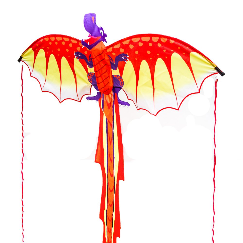 c72a77ff3 ZHONGRAN Kites, Huge Dragon Kite for Kids and Adults, 127x56inch 3D Nylon  Kite for