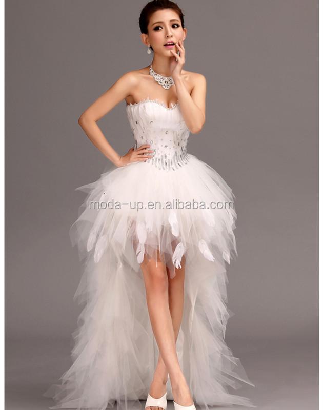 sexy short front wedding dress taobao wedding dress beaded wedding dress