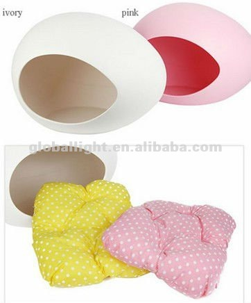 Small Dog Kennel Cat Litter Nest Egg-Shaped Plastic Dog House