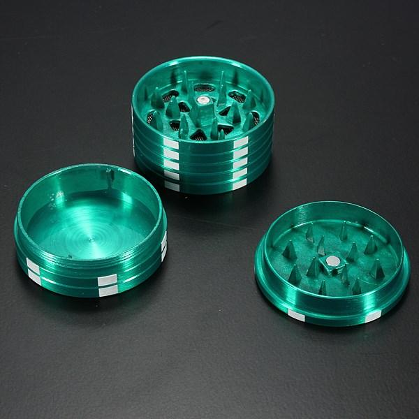 Высокое качество металлические три слоя покер стиль травяные травы табака мясорубки рука мюллер черный для курительная трубка аксессуары