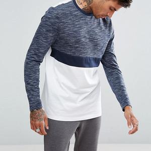 manufacturer clothing mens color block longline bangladesh plain t-shirts