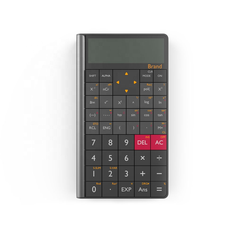 Neue Stil 10 Ziffern Zwei-linie Display ABS Stilvolle Scientific Calculator