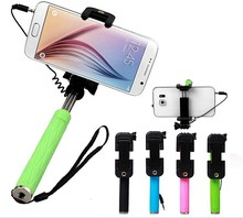 Popular type mini self-timer wholesale monopod selfie stick with cable