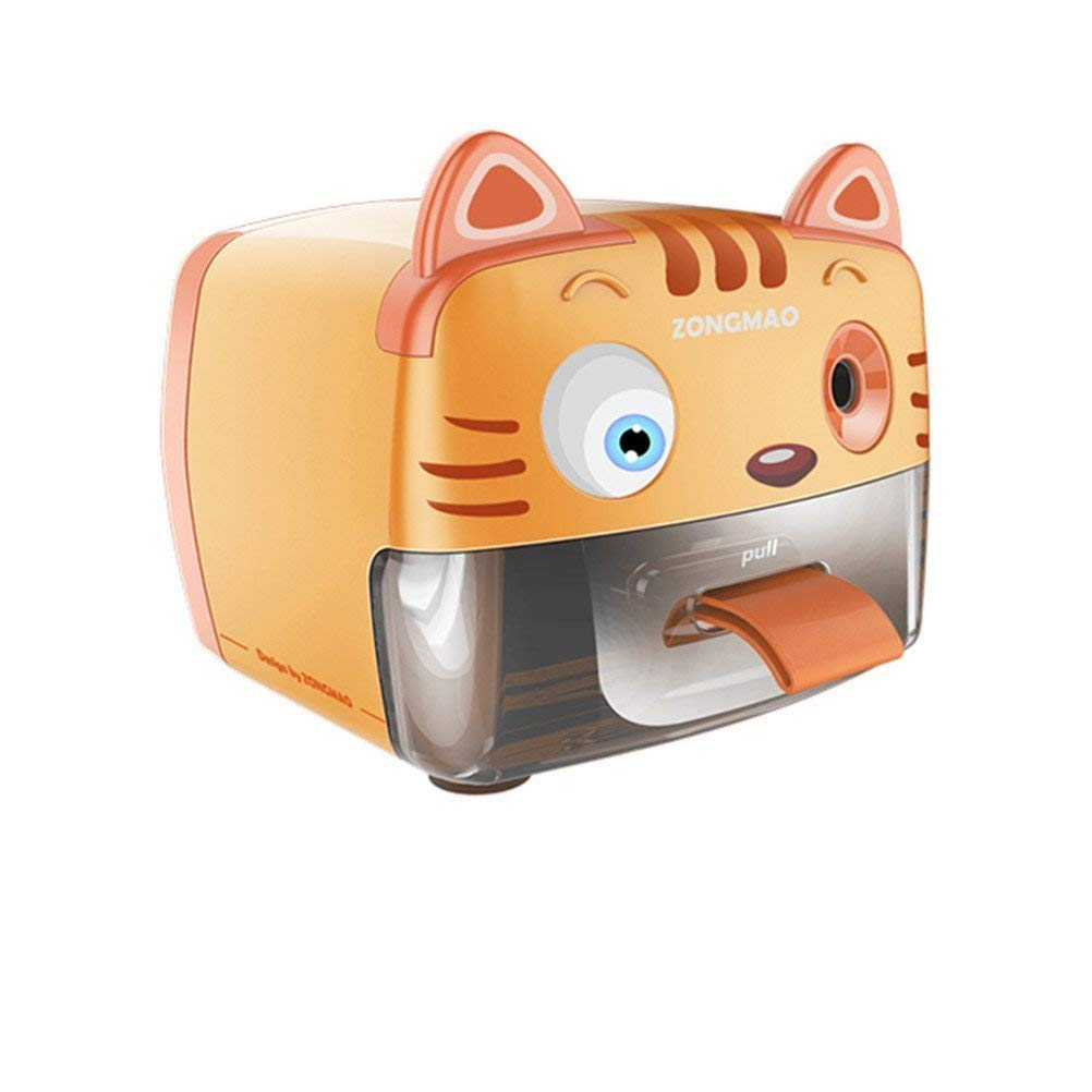 Electric Pencil Sharpeners,Battery (Not Include) &USB Operated,Tip Point Adjustable,Heavy Duty Single Holes Pencil Sharpeners For Kids With Auto Feature,Perfect For Home,Classroom And Office,Tiger