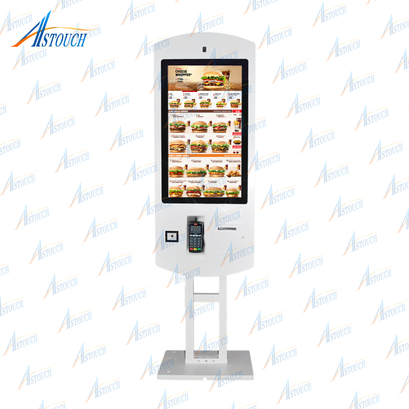 Restaurant Self Service Shopping Terminal Payment Kiosk With Printer And 32 Inch Touch Interactive Digital Signage Exquisite Workmanship In