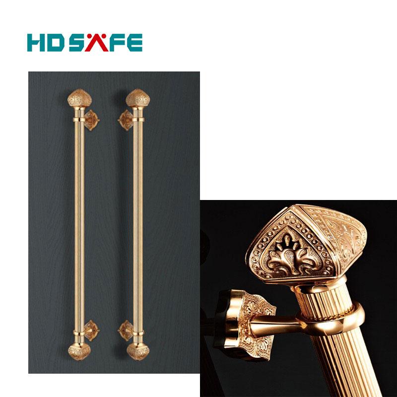 Elegant Style Gold Color Door Pull Handle Brass Front Door Handle ...