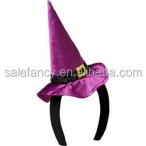 9cfeb897bc3 Mini Halloween Witch Hat On Headband Halloween Headbands Qhbd-2070 ...