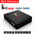DDR4 3 Г Amlogic s912 octo core dual wifi 2.4 Г и 5 Г bluetooth 4.0 android 6.0 убить pro dvb smart box tv