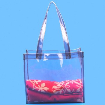 Vinyl Clear Plastic Beach Tote Bag Pvc Handle Bags - Buy Clear ...