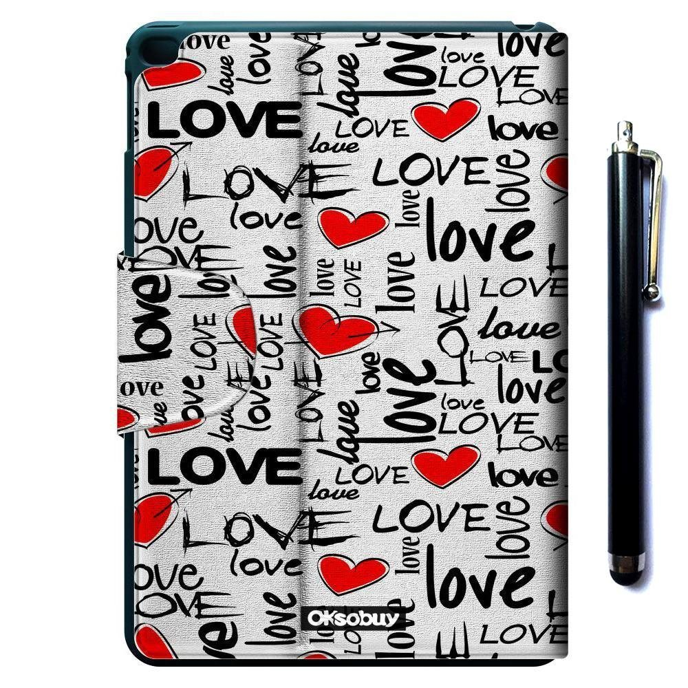 iPad Air 2 iPad 6 Case, OkSoBuy(R) Ultra Slim Lightweight Stand Case Premium Oracle bone script Leather Case Smart Cover with Card Slots For Apple iPad Air 2 iPad 6 (Love art)
