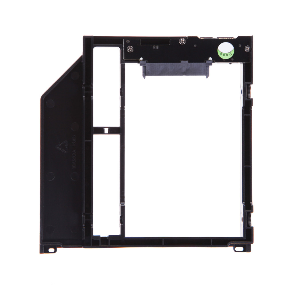 "Hot Sale 9.5mm Plastic Material For Apple Laptop DVD/CD-ROM 2nd HDD Caddy 9.5mm 3.0 SATA 2.5"" SSD HDD Case with Screwdriver"