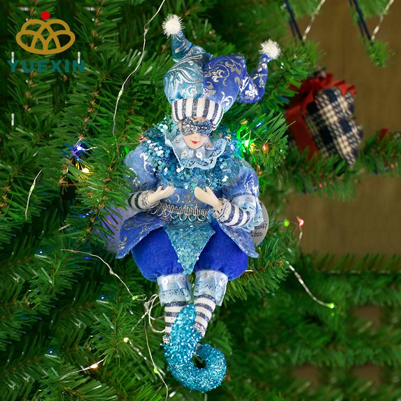 """16 """"nuovo stile verde e rosso vestiti di panno di cotone ragazzo giocattolo del bambino giocattoli fatti a mano all'ingrosso elf bambola in piedi bambole per i bambini"""