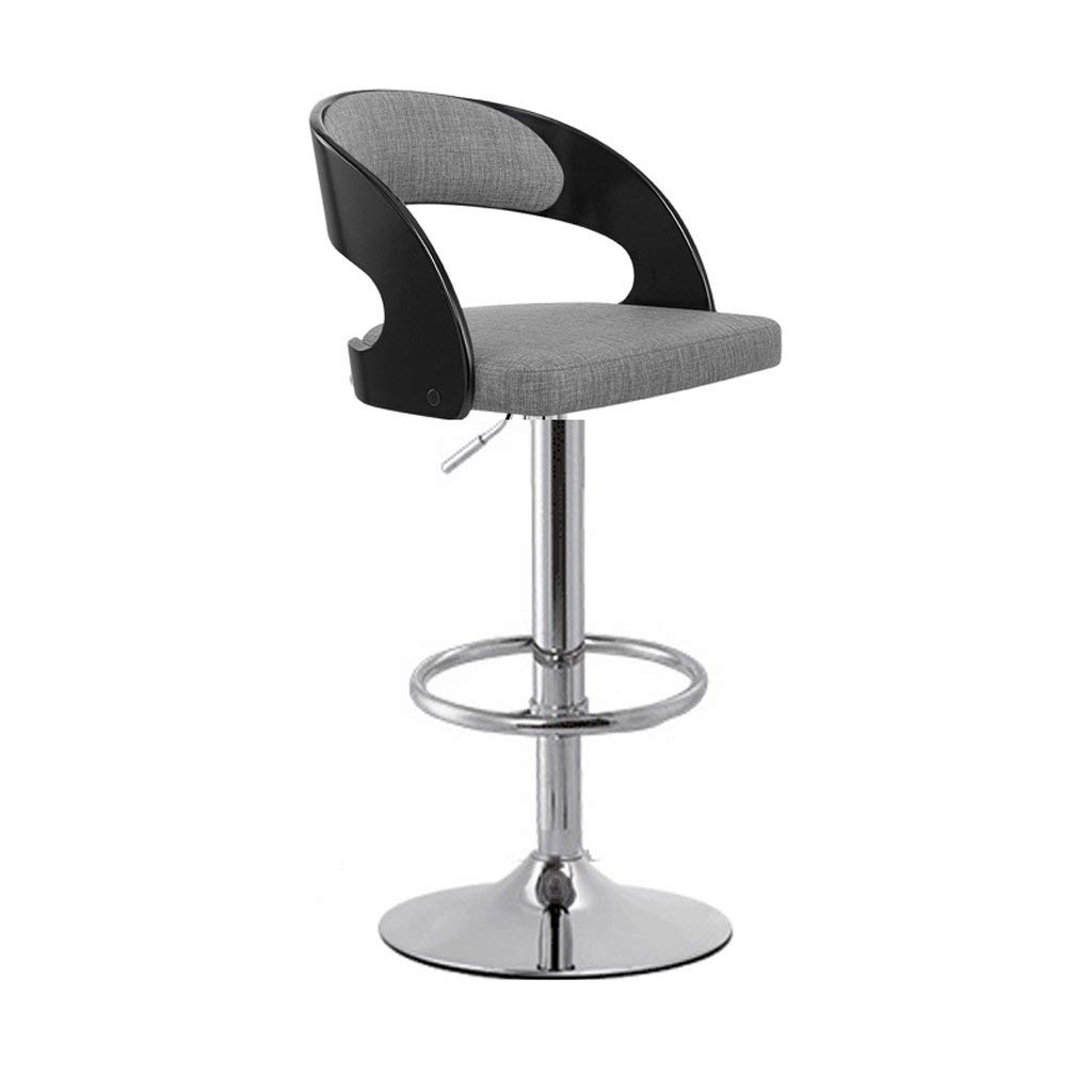 Wei Hong Home Office Chairs High Stools Swivel Chairs Bar Chairs Lift Chairs (Color : Gray, Size : 482985cm)