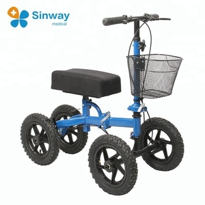 One Leg Outdoor All Terrain Knee Walker Scooter for Broken Ankle
