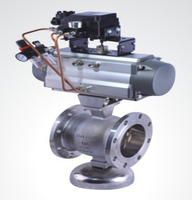Pneumatic V pattern ball valve(flange type)