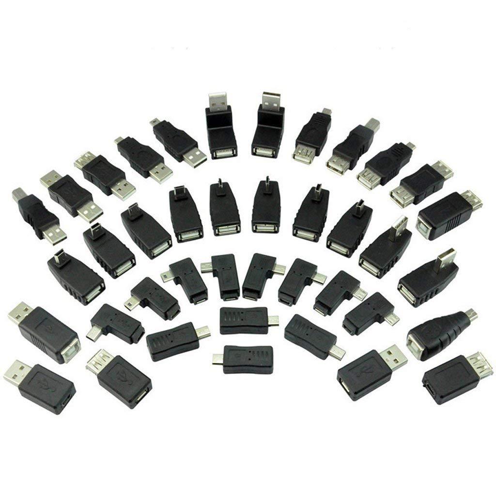 Jili Online 40 in 1 USB 2.0 OTG F/M A Female to Mini USB B 5 Pin Male Adapter Converter