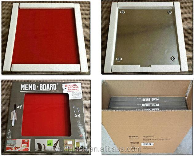 Rahmenlose magnetische Glasplatte mit 60x90cm Wird im Büro verwendet